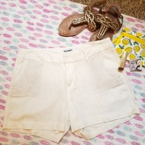 very elegant linen and rayon old navy shorts